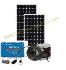 KIT ENERGIA SOLAR FOTOVOLTAICA AUTOINSTALABLE 2 PANELES 190W